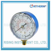 Red and Blue Painted Steel Manifold Refrigeration Pressure Gauge