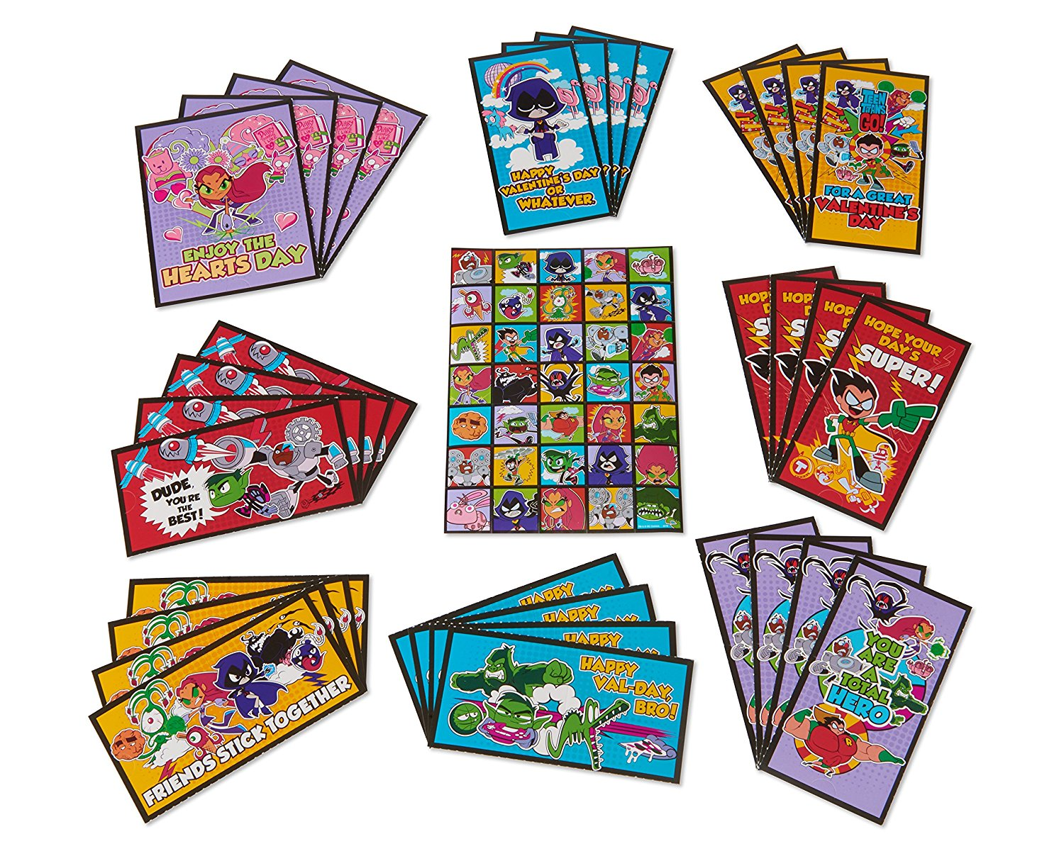 Buy American Greetings Teen Titans Go Valentines Day Exchange Cards
