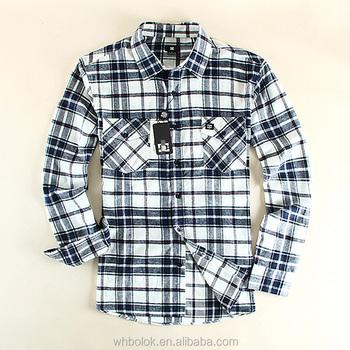 12241569 Men shirt fitted flannel plaid shirt black white checked shirt for men