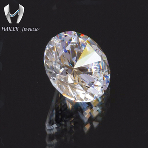 round diamond cut 8.0mm cubic zircon white stone