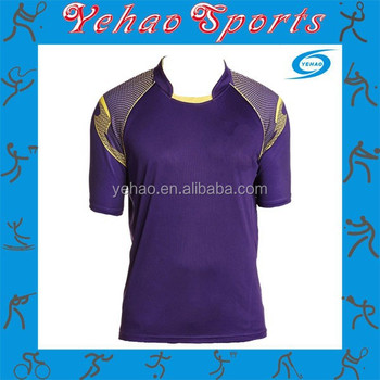 404a309ea Custom Made Cricket Jersey Purple Color With Embroidery - Buy ...