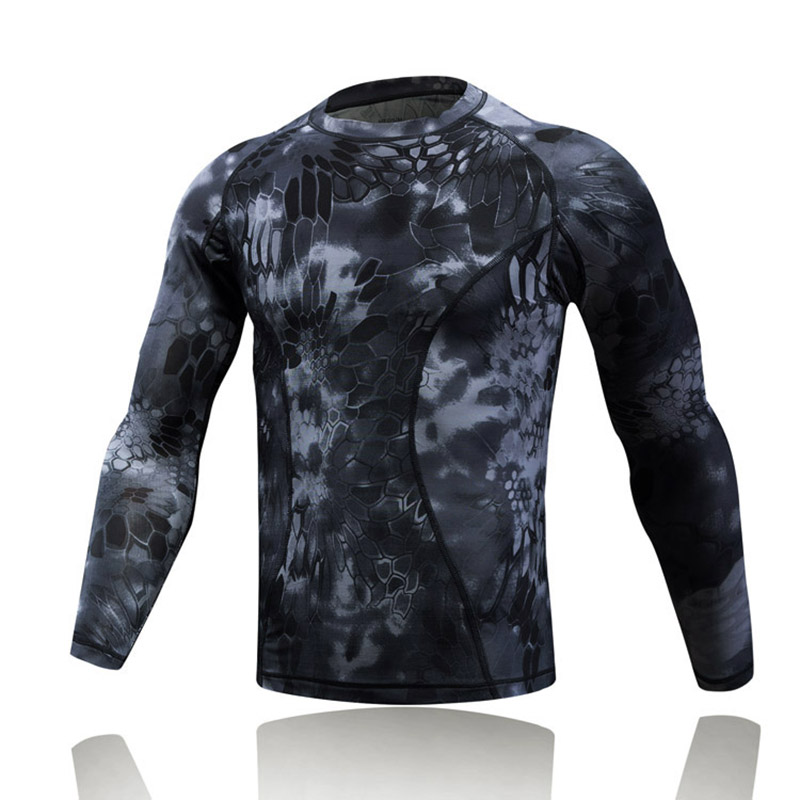 2018 Best selling military Sports camouflage fitting T-shirts quickly-dry army digital camo Tactical uniform frog T shirt, Atacs;atacs fg;highlander;mandrake;typhon