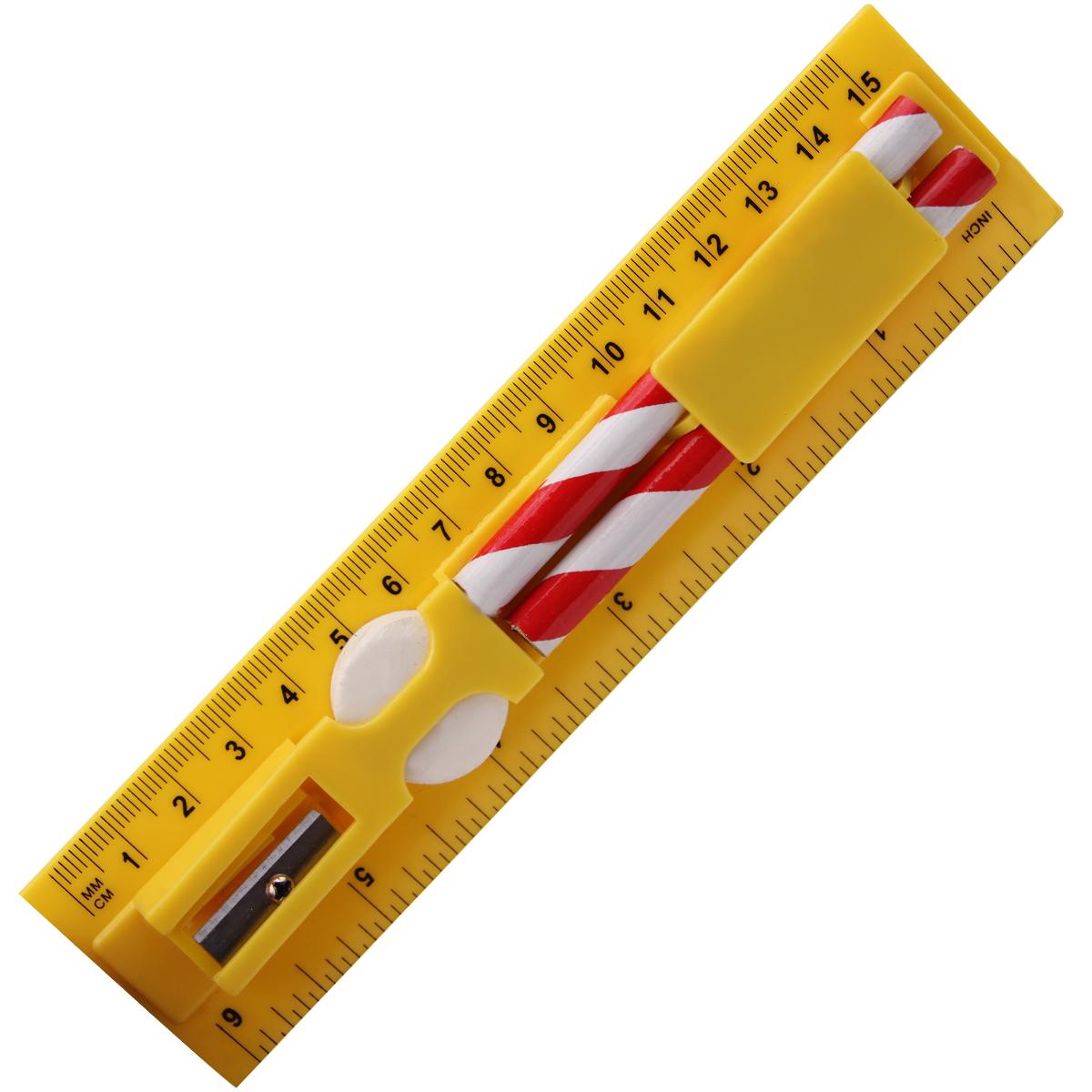 学生鉛筆消しゴム削りプラスチック 15 センチメートルスクール定規セット