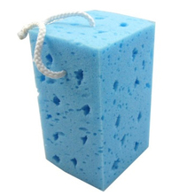 hanging type Blue high quality car wash sponge, Porous seaweed polyether car cleaning appliances  HQ-C1268