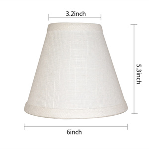 Promotion cheap bell cone white clip-on fitter hardback wall chandelier fabric lamp shade