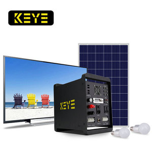 300w-500w 12v home solar electricity storage 40ah battery system power generation with TV