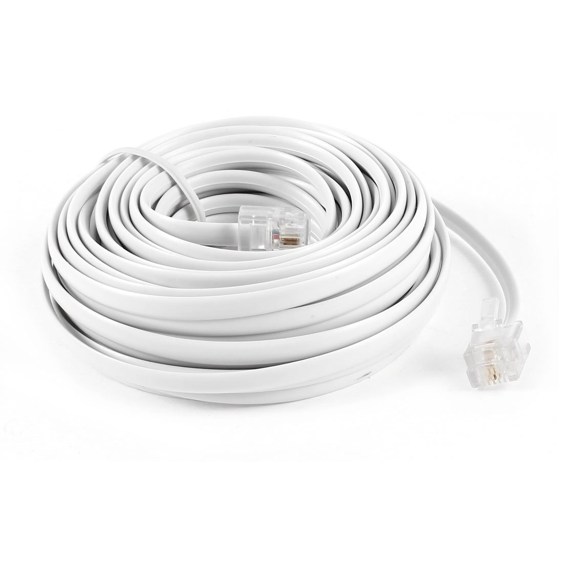Cheap Standard Rj11 Find Deals On Line At Alibabacom Modem With Telephone Extensions Extension Sockets Wiring Get Quotations Gle2016 9m 30ft 6p2c Modular Phone Cables Wire White For Phones