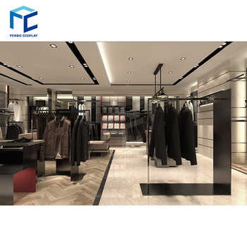 factory custom garment store furniture store fixtures shop interior design clothes display rack