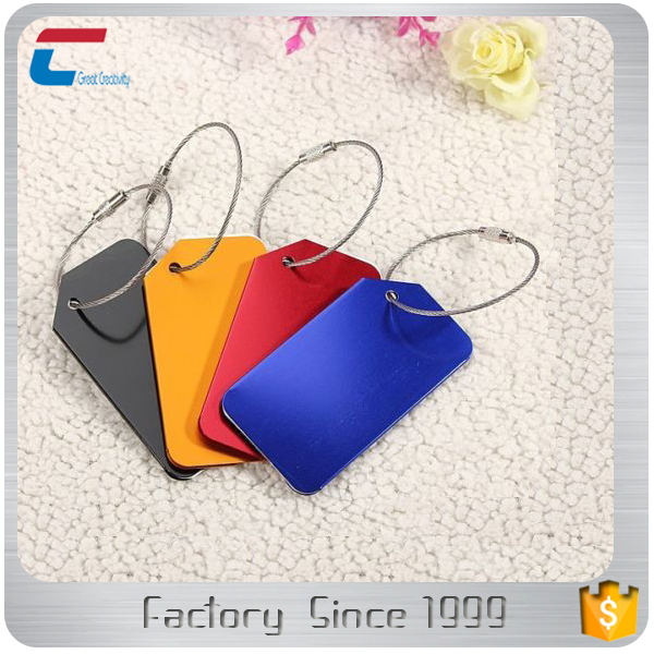 Multi-color Metal Aluminum Travel Luggage Tags With Label Tag ...