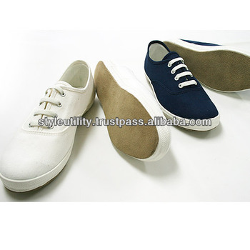 Stss01 Suede Sole Canvas Sneakers For
