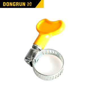 Single stainless wire double bolt wing nut rubber constant tension taiwan hose clamp
