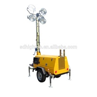 IP66 Generator electric mobile portable Vehicle-mounted solar light tower
