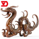 artwork chinese style dragon shape animal sculpture metal bronze statue