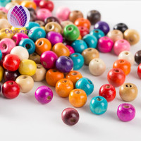 11*12 mm Colorful candy big hole wooden beads