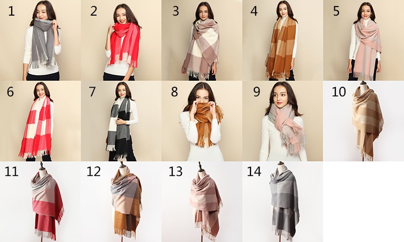 Fashion Accessories Super Soft High Quality Wild Winter Ladies Long Cashmere Scarf