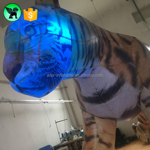 Lighting Inflatable Tiger Customized Giant Tiger Inflatable For Events A3397