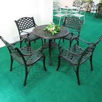 Metal Dining Table With 4 Chairs Cast Aluminum Cheap Patio Furniture