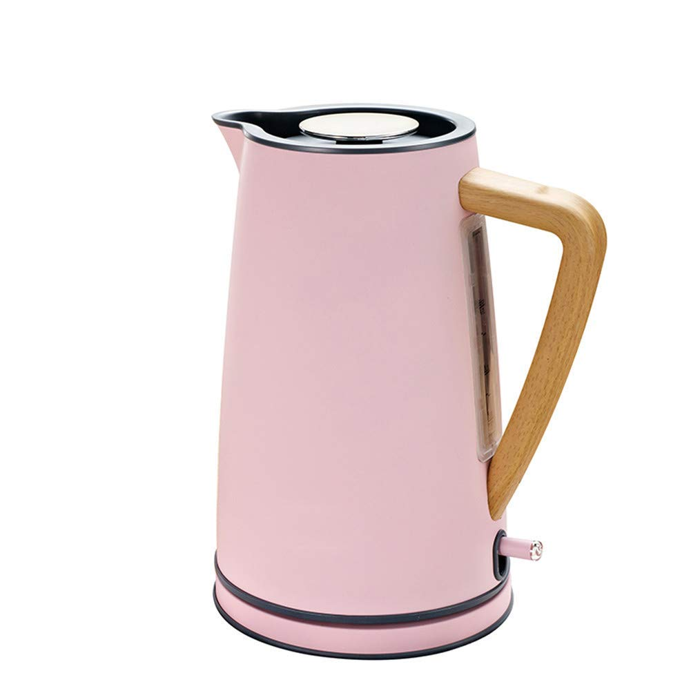 Yscysc 1.7L Electric Kettle Stainless 220V Auto Power-Off Protection Handheld Instant Heating Electric Kettle,Pink