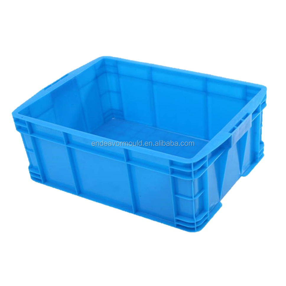 Injection tote crate plastic mold