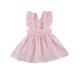 Baby Frock Design Pictures Light Pink Woven Cotton Backless Pinafore Baby Girls Solid Colour Ruffle Dress