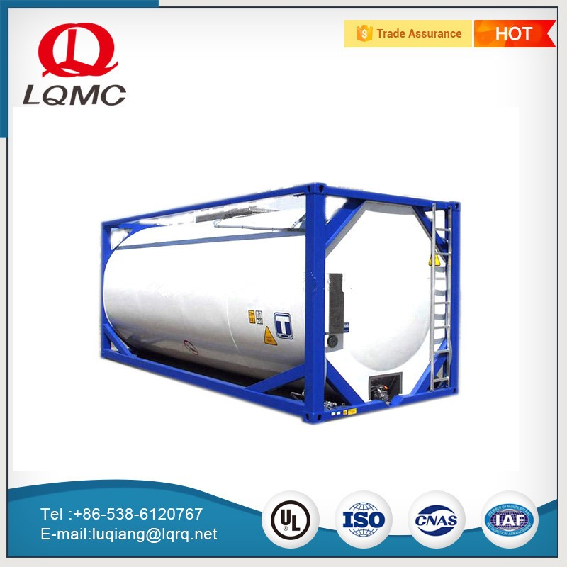 truck easily transport store acid 20ft iso tank container