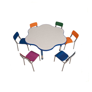 High Quality Round Kids Study Table and Chair Set, Round kids Party Table Chair Set