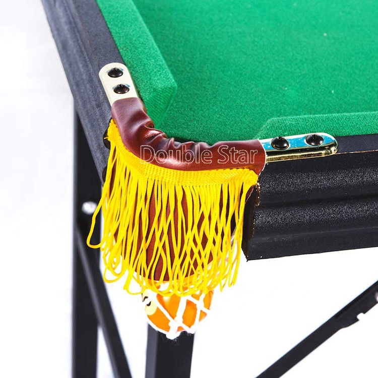 4Ft Mini Indoor Sport MDF Snooker Foldable Pool Table With Folding Legs