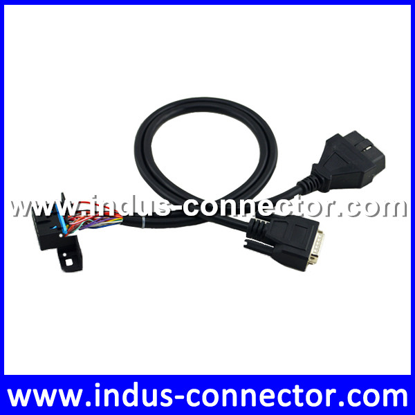 Phoeinx male to 15p obd female cable with miniature d sub connector