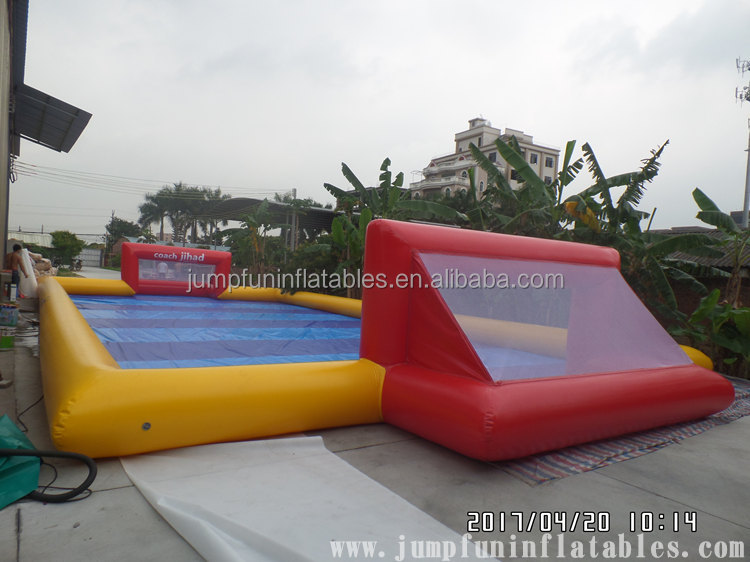 22m Inflatable Soap Football field,high quality adults inflatable water football pitch