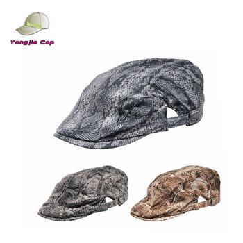 snake skin custom cheap fashion grid ivy caps and hat wholesale newsboy cap  custom beret cf3a0ee4956