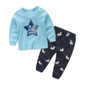 Spring Kids Clothes Star Printed Long Sleeve Baby Boy clothes 2pcs Sports Suit Hot Sale New