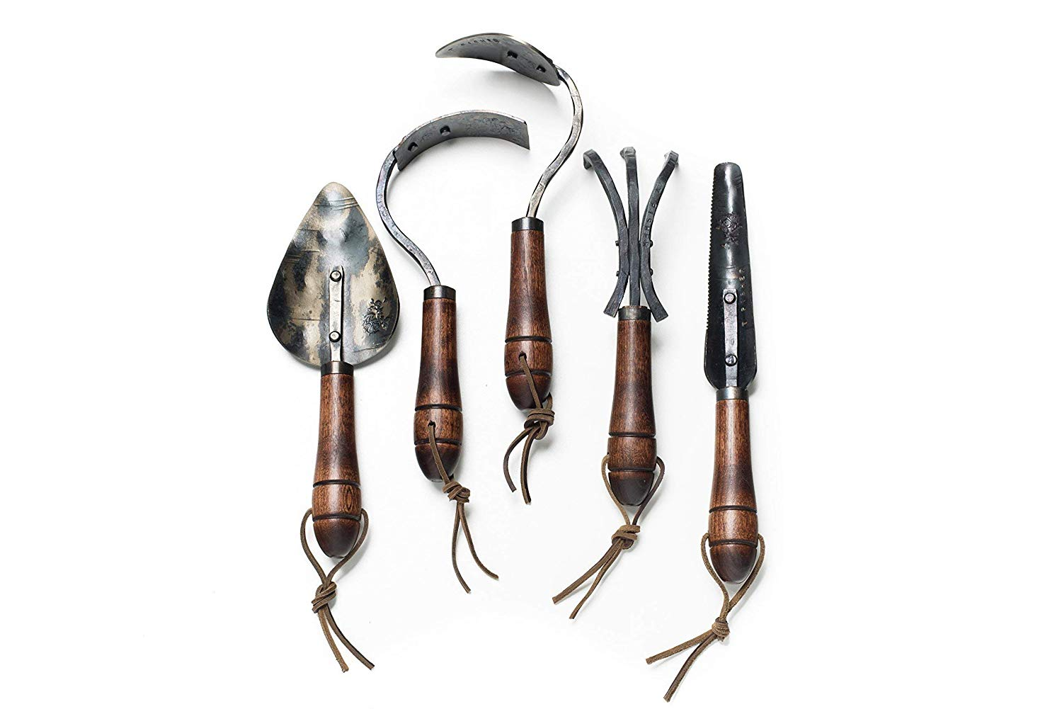 Garden Tool Gift Set, Set of Five Hand Forged Garden Tools, Gardening Tools, Gardening Tool Gift Set, Gardening Gift
