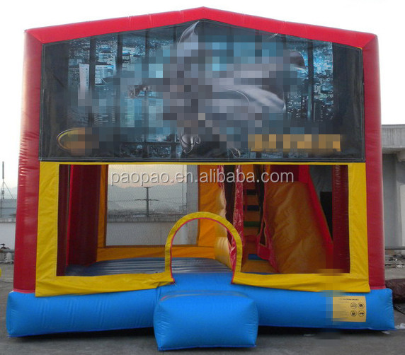 cheap inflatable batman castle/batman combo slide/inflatable combo bouncy