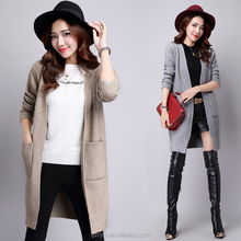 New arrival ladies cashmere front open cardigans for women