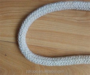 china wholesale 16 strand braided poly cotton rope 10mm