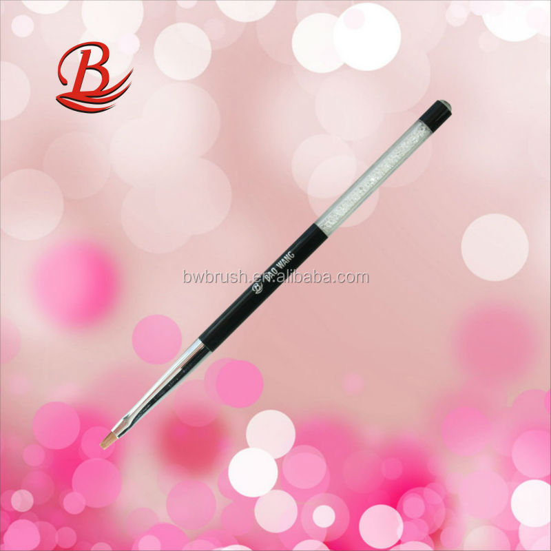 glittering acrylic handle series painting nail brush(flat)