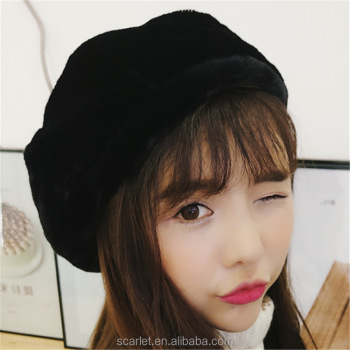 Beanies Women Fur Winter Women s Hats Beret Girls Knitted Winter Hats For  Women Bonnet Caps Brand 4eef2f81e040