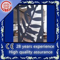 Special CNC cutting craftwork leaves aluminum indoor screen panels/curtain walls