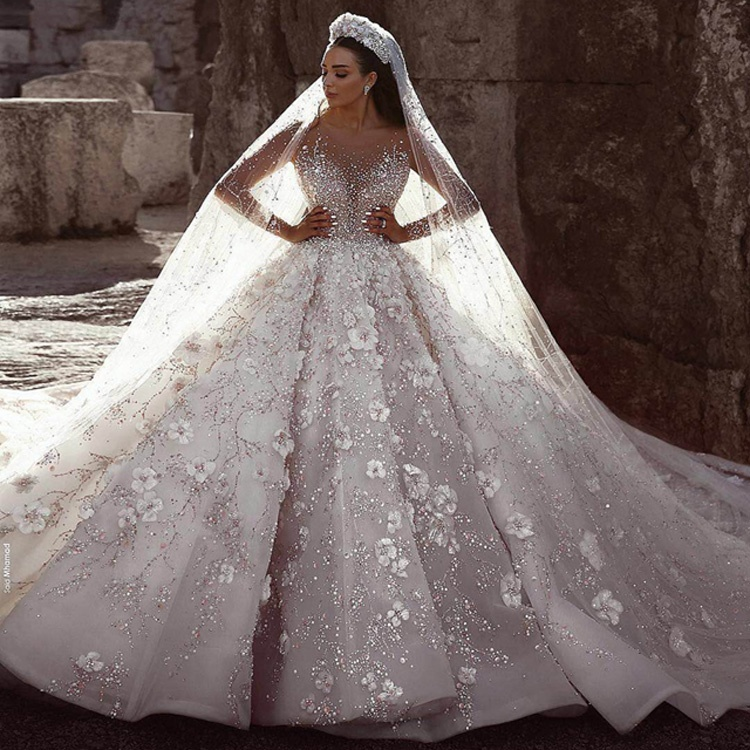 6e1a5ce0bc Luweiya Factory Gorgeous Crystal Beaded Luxury with Long Train Wedding  Dresses Bridal Gown Crystal Wedding Dress, View wedding dress, Luweiya  Product ...