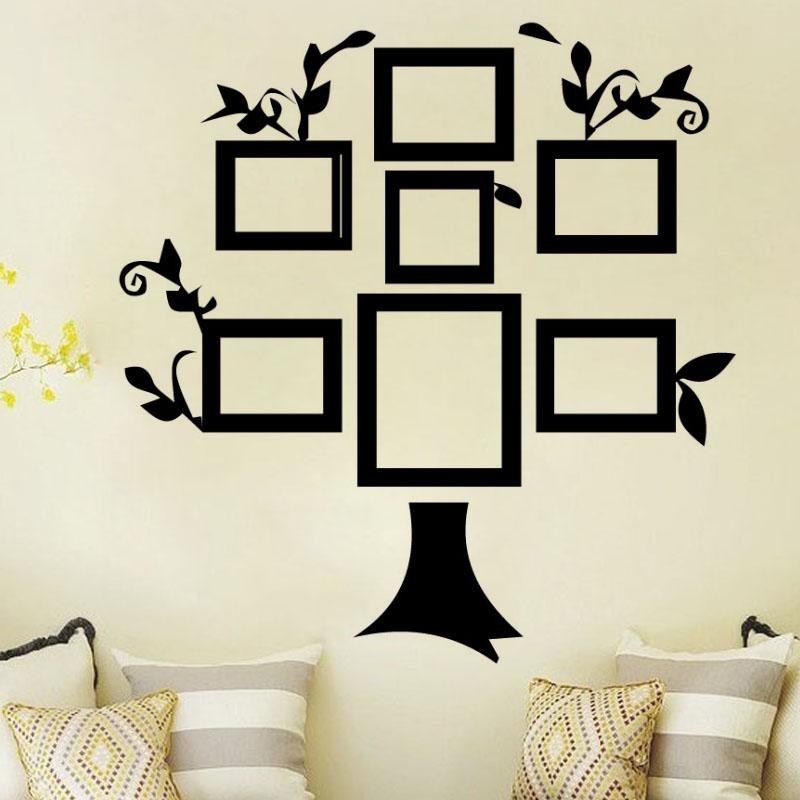 Simple Home Decor DIY Creative Wall Sticker Tree Photo Frame Vinyl Removable Self Adhesive Living Room Decoration