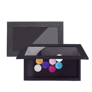 custom logo private label lip cardboard magnetic box packaging makeup with mirror bamboo empty eyeshadow palette