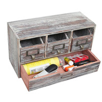 rustic handmade finished wooden office storage cabinet jewelry organizer