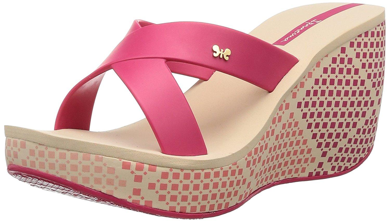 9b35640a8d15 Buy Ipanema womens Hibiscus wedge flip flops with flower design. in ...