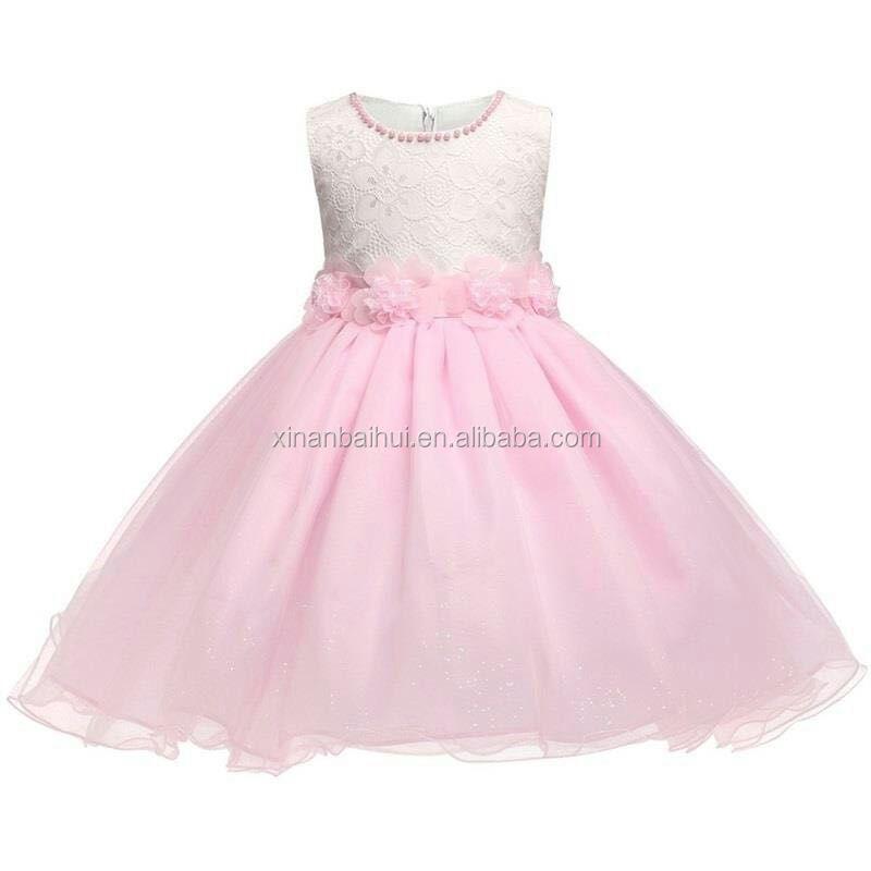 De alta calidad vestido de niña de flores para la boda princesa ...
