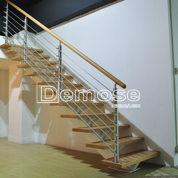 Beau Prefab Metal Stairs Residential Floating Stairs