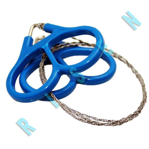 Life-saving 360 Degrees Rotation Curve, 24 Inches 4 Strands Wire Cutting Ropes Military Emergency Survival Pocket Chani Saw