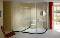 Quick Lead Low Cost shape glass door for shower enclosures/cabin/bathroom