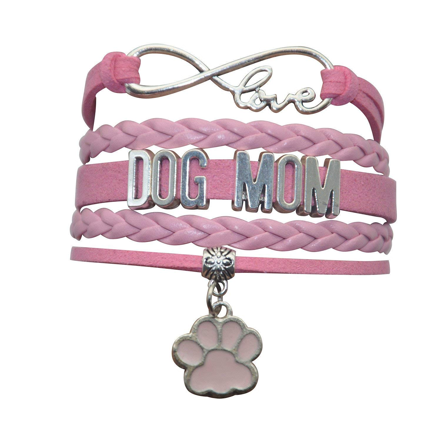 92742dc53 Get Quotations · HHHbeauty Pet Dog Mom Paw Bracelet - Dog Memorial Paw  Charm Bracelet For Women,Men
