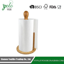 Greenco Counter Top Organic Bamboo Paper Towel Holder