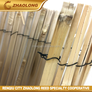 Handmade farm split bamboo fence panel